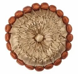 Dual Brown Colored Satin Round Cushion Cover