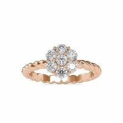 White,Yellow,Rose Gold 3mm ( 7 Stones ) Round Cut Full White Moissanite Ring