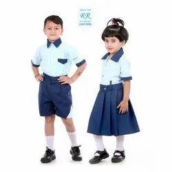 R.R.制服棉白色和蓝色校服