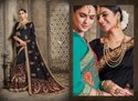 Black Designer Dupiyan Silk Embroidered Saree