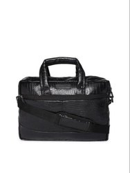 Bagsrus Black Phantom Executive Faux Leather Laptop Bag