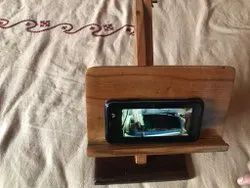 Teak Finish Mount Type Mobile stand wooden