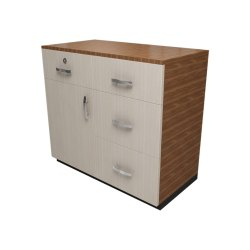 White 4 Drawers Wooden Sideboard