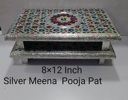 8x10 inch Silver Meena Pooja Pat