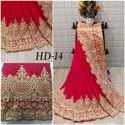 Border 13 Color Heavy Designer Georgette Work Indian Wear Saree, With Blouse Piece, 5.5 M (separate Blouse Piece)