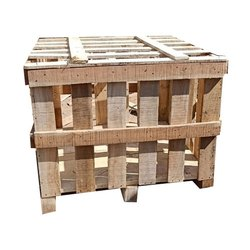 Cube Brown Industrial Wooden Pallet Box, For Packaging