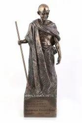Nirmala Handicrafts Copper Finish Poly Resin Mahatma Gandhi Ji Statue Sculpture Father Of Nation