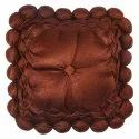 Deep Brown Square Cushion Cover