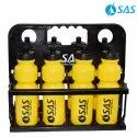 Collapsible Water Bottle Carrier For 8 Bottles (With 8 Yellow Bottles)