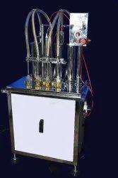 Semi Automatic 4 Head Sanitizer Filling Machine