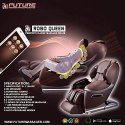 3D Heating Full Body Zero Gravity Luxury Massage Chair (Dark Brown-Roboqueen)