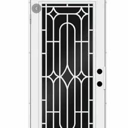 Polished Galvanized Iron Window Security Grill, Rectangular