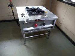 SS Single Burner Gas Range, For Commercial And Industrial, 1