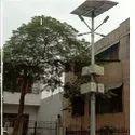 Mild Steel Round Solar Light Octagonal Pole, For Highway