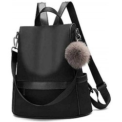 Black Girls PU College Bag