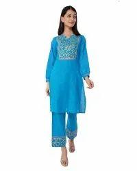 Blue Color Palazzo Suit