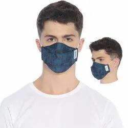 Carriall Adult Unisex 3 Layer Reusable Blue Facemask With Nose Pin (Pack Of 3)