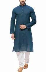 Indian Kurta Clothing Fashion Shirt Mens Short Kurta Cotton Indian Traditional