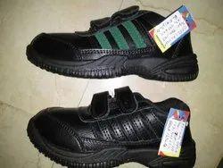Oxford Kids Black Velcro Canvas Shoes