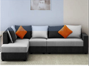 Wood Case L Shape Sofa Set
