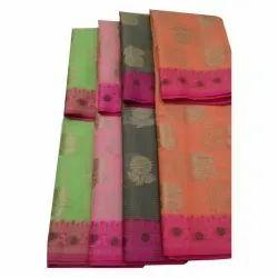 Casual Wear Printed Fancy Kota Check Sarees, 6.40 M