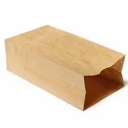 Brown Handmade Paper Bag, For Grocery, Capacity: 3 Kg