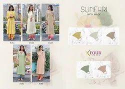 Kfour Sunehri Designer Catchy Look Kurti Catalog