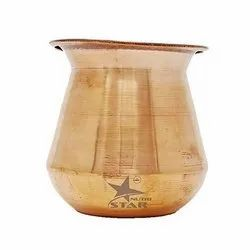 Round Red Nutristar Pure Copper Lota / Copper Marwadi Lota, For Home