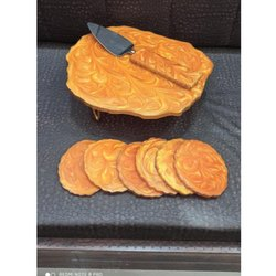 Orange Cake Stand & Platter