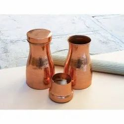 Tumbler Round Copper Hammered Water Storage Vessel
