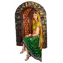 Traditional FRP Lady Wall Mural