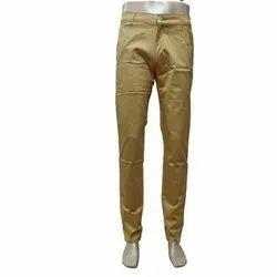 Plain Narrow Fit ( Pencile Fit ) Men Cotton Trouser, Waist Size: 28 to 36