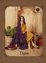 Kessi Kalarang Ziyaa Jam Silk Cotton Suits Catalog
