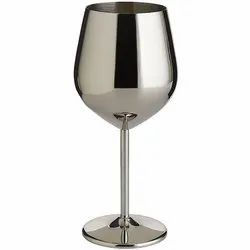 Stainless Steel Unbreakable Bpa-Free Shatter-Proof Wine Glasses (350 Ml)