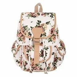 Cotton Printed Girls College Bag
