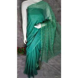 Casual Wear Printed Dobi Kota Katber Staple Saree, With Blouse, 6.50 Meter