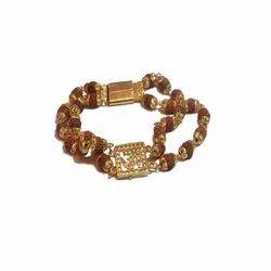 5 Mukhi Rudraksha Om Bracelet