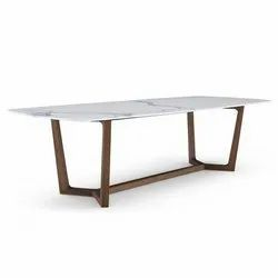 Brown And White Restaurant Wooden Dining Table, Size: 6 X 3 X 2 Feet