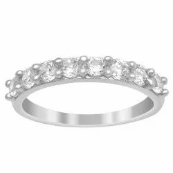 Eternity Ring  925 Sterling Silver White Color Gemstone Women Stacking Ring