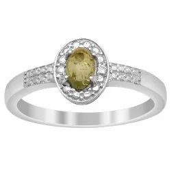 Watermelon Tourmaline 0.50 Ctw Gemstone 925 Sterling Silver Stackable Ring