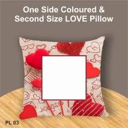 Sublimation Printing Square, Heart & Many Love Pillow, Cartoon Pillow, Digital Pillow, Birthday Pilllow, Ahmedabad