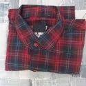 Cotton Collar Neck Men Fancy Check Shirt, Machine Wash, Size: M-xl