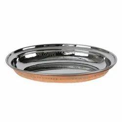 Standard Mr.Copper Copper / Steel Oval Plate Or Entree Dish