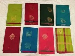 Festive Wear Multicolor Trendy Silk Cotton Sarees (Rs 2800 To Rs 4200), 6.3 m (with blouse piece)