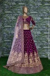Designer Velvet Heavy Bridal Lehenga Choli