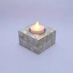 Stone Square T-Light Holder