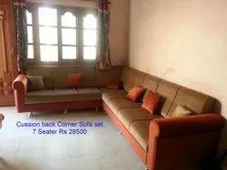 Cushion Back 7 Seater Corner Sofa Set