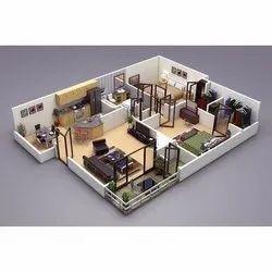 Architectural Visualization 3D House Map Design Service