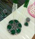 Victorian Pendant Set, Wedding Jewellery Set, Beautiful Artificial Necklace Set