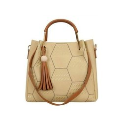 Pu Leather Designer Ladies Hand Bag, Gender: Women